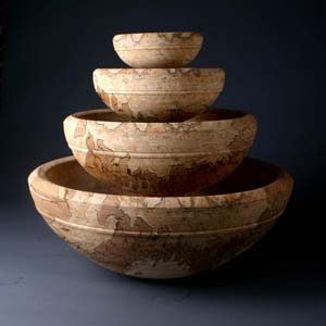 nest of wood turned bowls