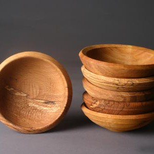 small woodturned bowls
