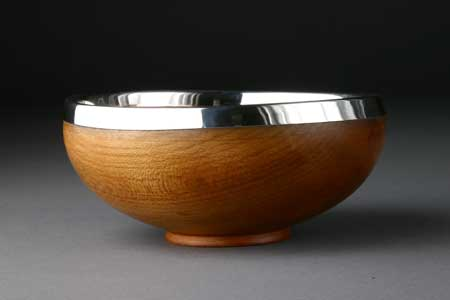 sycamore maser with silver rim