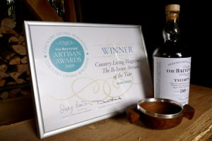 robin wood's certificate and bottle of whiskey