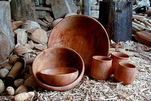 wooden bowls and drinking cups for jorvik viking museum